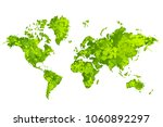 world map in the form of blots. ... | Shutterstock .eps vector #1060892297
