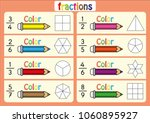 color the shape to show the...   Shutterstock .eps vector #1060895927