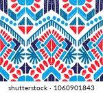 ikat geometric folklore... | Shutterstock .eps vector #1060901843