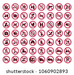 red prohibition sign set.... | Shutterstock .eps vector #1060902893