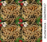 Leopard And Floral Pattern