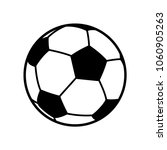 football  soccer ball vector... | Shutterstock .eps vector #1060905263