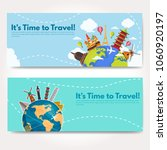 it s time to travel.trip to...   Shutterstock .eps vector #1060920197