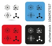 set of atom flat vector icons. | Shutterstock .eps vector #1060937537