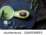 green coctail. coctail from...   Shutterstock . vector #1060938893