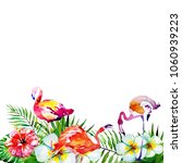 beautiful tropical flamingos   Shutterstock . vector #1060939223