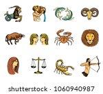 zodiac symbols vector astrology ...   Shutterstock .eps vector #1060940987