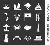 vietnam travel icons set vector ... | Shutterstock .eps vector #1060971497