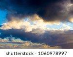 white  grey heavy fluffy ... | Shutterstock . vector #1060978997