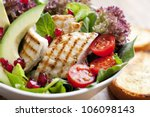 closeup of fresh chicken salad - stock photo