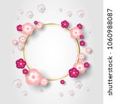 round frame decorated with... | Shutterstock .eps vector #1060988087