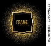 golden frame with golden... | Shutterstock .eps vector #1060998233