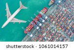 container ships and transport... | Shutterstock . vector #1061014157