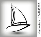 yacht  logo templates. sail... | Shutterstock .eps vector #1061015237