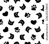 seamless vector flat black and... | Shutterstock .eps vector #1061015843
