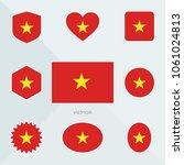 vietnam flag. national flag of... | Shutterstock .eps vector #1061024813
