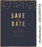 wedding cards with rose gold... | Shutterstock .eps vector #1061040743