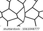 black and white irregular grid  ... | Shutterstock .eps vector #1061048777