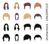 mustache and beard  hairstyles... | Shutterstock .eps vector #1061049113