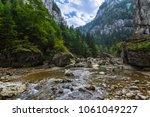 scenic shot of the bicaz gorge... | Shutterstock . vector #1061049227