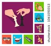 manipulation by hands flat... | Shutterstock .eps vector #1061050313