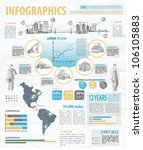 build info graphic vector with... | Shutterstock .eps vector #106105883