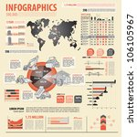 build info graphic vector with... | Shutterstock .eps vector #106105967