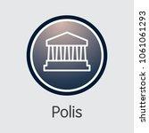 polis   digital currency sign... | Shutterstock .eps vector #1061061293