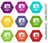 1984 photo camera icons 9 set... | Shutterstock .eps vector #1061064767