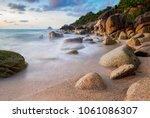 sea scape of koh tao island... | Shutterstock . vector #1061086307