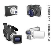 the collection of cameras... | Shutterstock .eps vector #106108817
