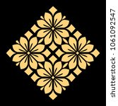 golden  pattern on a black... | Shutterstock . vector #1061092547