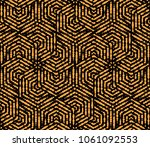 abstract geometric pattern with ... | Shutterstock . vector #1061092553