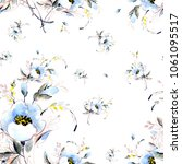 seamless pattern of a spring... | Shutterstock . vector #1061095517