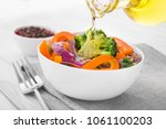 fresh low calorie salad with... | Shutterstock . vector #1061100203