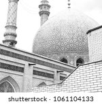 in iran  and old antique mosque ... | Shutterstock . vector #1061104133