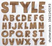 vector cardboard numbers.... | Shutterstock .eps vector #1061143193