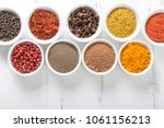 various spices selection.... | Shutterstock . vector #1061156213