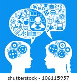 silhouette of the head  brain ... | Shutterstock .eps vector #106115957