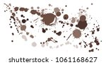 watercolor paint stains grunge... | Shutterstock .eps vector #1061168627