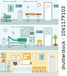 set of medicine concepts with... | Shutterstock .eps vector #1061179103