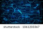 abstract futuristic electronic... | Shutterstock .eps vector #1061203367