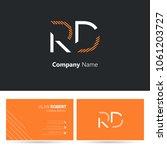 r   d joint logo stroke letter... | Shutterstock .eps vector #1061203727