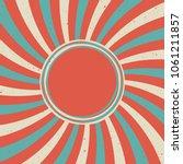 sunlight retro faded grunge... | Shutterstock .eps vector #1061211857
