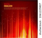 multi color audio waveform... | Shutterstock .eps vector #1061225807