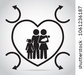 family and heart protection...   Shutterstock .eps vector #1061236187