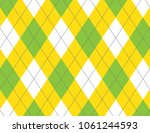 green and yellow argyle | Shutterstock .eps vector #1061244593