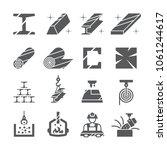steel metal icon set | Shutterstock .eps vector #1061244617
