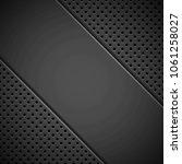 black technology background... | Shutterstock .eps vector #1061258027