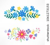set of floral compositions with ... | Shutterstock .eps vector #1061273153